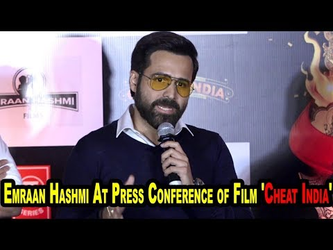 Emraan Hashmi At Press Conference of Film 'Cheat India'Emraan Hashmi At Press Conference of Film 'Cheat India'