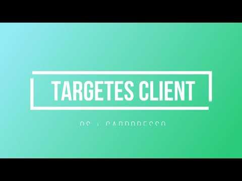 Curset Zenius: Targetes mostrador i Targetes client