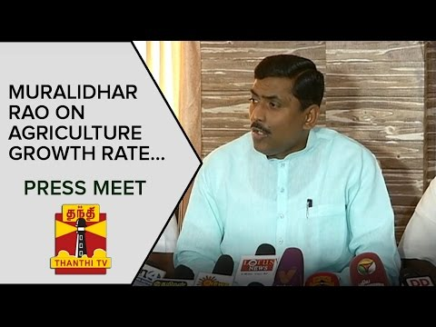 Muralidhar-Rao-on-Agriculture-Growth-Rate-and-Power-Generation-Press-Meet--Thanthi-TV