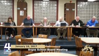 Argos School Board Meeting January
