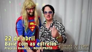 Convite da banda Maquina do Tempo para o Baile com as Estrelas em Nova Prata 22 de abril de 2017.www.bandamaquinadotempo.com.br