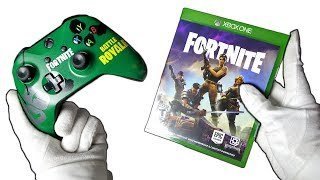 FORTNITE CONTROLLER & RARE PHYSICAL COPY! Unboxing Fortnite Battle Royale Custom Paint & Giveaway