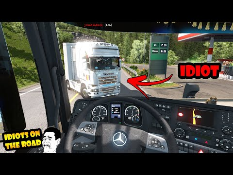 ★ IDIOTS On The Road #53 - ETS2MP | Funny Moments - Euro Truck Simulator 2 Multiplayer