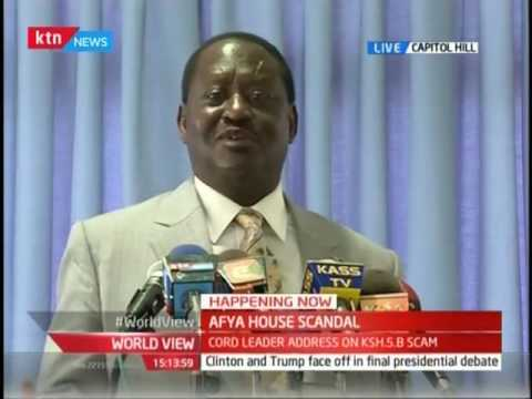 Business Today: CORD protagonist Raila hits Government on the alleged Health Ministry scandal