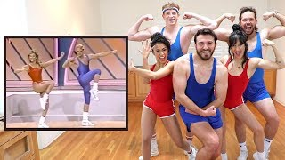 Vlog Squad Follows an 80's Aerobic Music Video