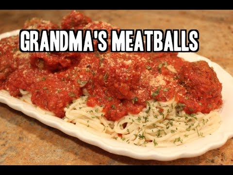 Grandma's Authentic Italian Meatballs and Sauce