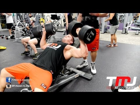 In The Gym With Team MassiveJoes – Chest Workout 27 May 2014 – Anytime Fitness Glenelg SA