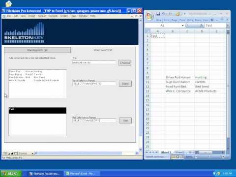 FileMaker Excel EDI in Windows Using