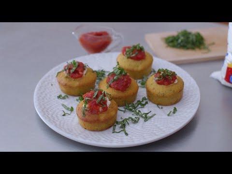 Video - Cómo preparar muffins de albahaca y mermelada de tomate