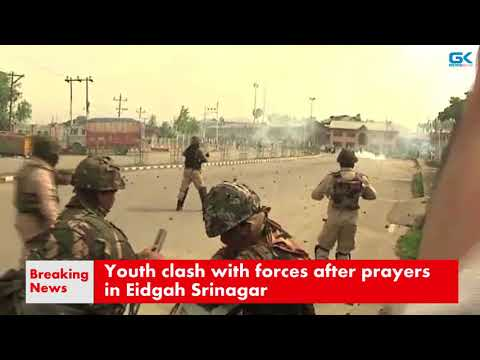 Youth clash with forces after prayers in Eidgah Srinagar