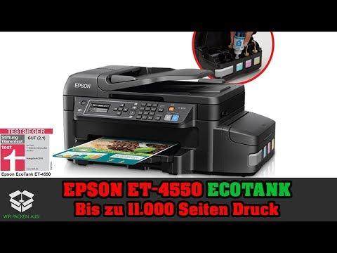 ❌Epson ET-4550 EcoTank 4in1 Wlan Drucker Multifunktionsdrucker im Test❌