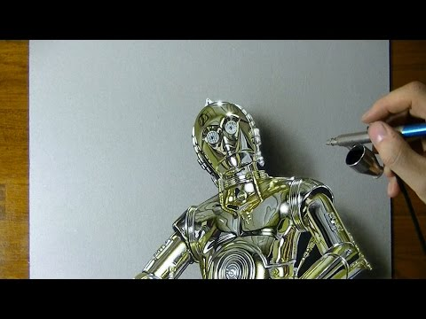 C-3PO | Star Wars | Drawing #5 + special ending