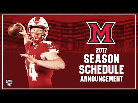 2017 Miami Football Season Schedule Announcement