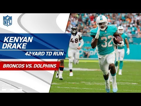 Video: Kenyan Drake Jukes His Way to a 42-Yd TD Run! | Broncos vs. Dolphins | NFL Wk 13 Highlights