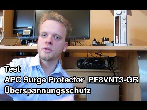 Test APC PF8VNT3 Surge Protector Performance Überspannungsschutz   Überspannungsschutz Test