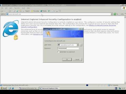 Windows Server 2003 - IIS Server Configuration