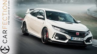 Subscribe for more Carfection videos: http://bit.ly/1V1yFYX The new Honda Civic Type R is the fastest fwd car around the 'Ring but has that compromised it as a car you'd actually want to drive?Join the Carfection community...Like on Facebook: http://on.fb.me/1RvTdL4Follow on Twitter: http://bit.ly/1JUAgiI