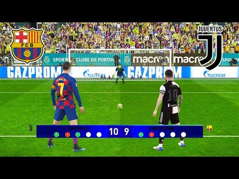 BARCELONA VS JUVENTUS / Champions League FInal / Ronaldo VS Messi | PES 2019 Penalty Shootout