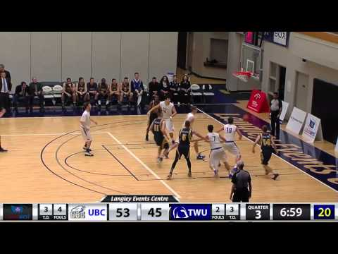 2015-01-24 TWU Men's Basketball Highlights vs UBC
