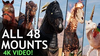 Assassin's Creed Origins - All Mounts in 4k (48 of them)
