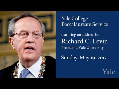 Yale - Yale President, Richard Levin, and Yale College Dean, Mary Miller, address the graduating seniors at the Yale College Class of 2013 Baccalaureate Ceremony on...