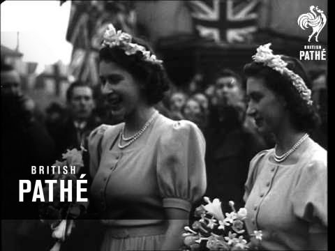 Royal Family At Patricia Mountbatten's Wedding (1946) (видео)
