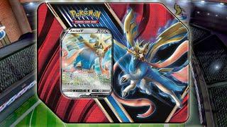 Pokemon Legends of Galar Zacian V Tin Opening! by The Pokémon Evolutionaries