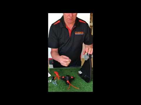Installing Triton trimmer head on STRAIGHT shaft machine (Method 1)