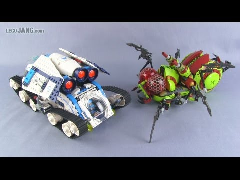 LEGO Galaxy Squad Galactic Titan & Hive Crawler compared