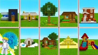 Minecraft Tutorial :10 Houses in 10 Styles that you can build as well!