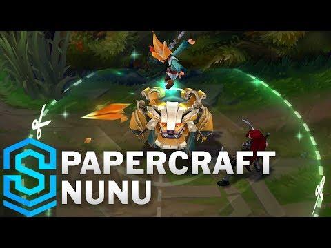 Nunu & Willump Hiệp Sĩ Giấy - Papercraft Nunu