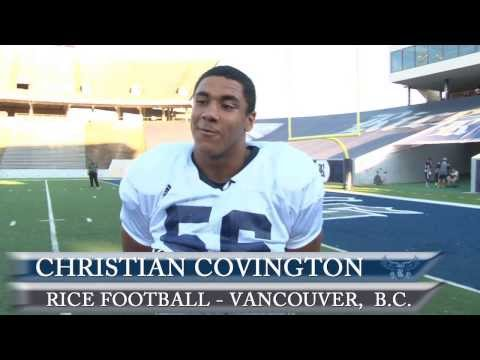 Christian Covington Canadien Thanksgiving Interview 10/14/2013 video.