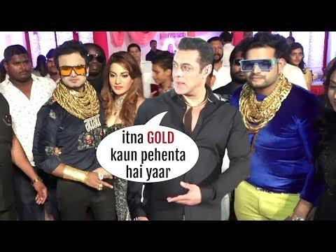 Golden Man Of Pune GRAND Entry At Salman Khan's Makeup Man Son Wedding!