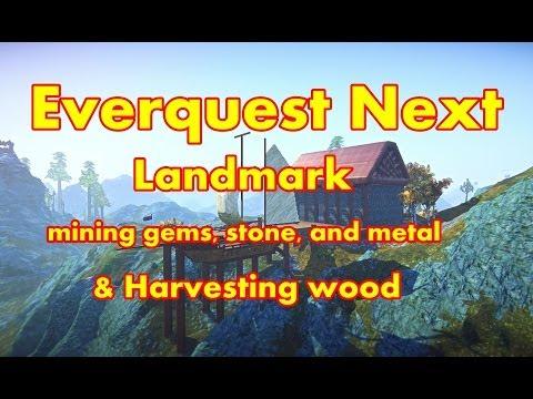 Everquest Next Landmark Gameplay – Exploring, Mining & Harvesting Wood