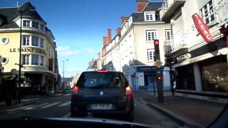 Tours France  city pictures gallery : Driving down the streets of Tours, France