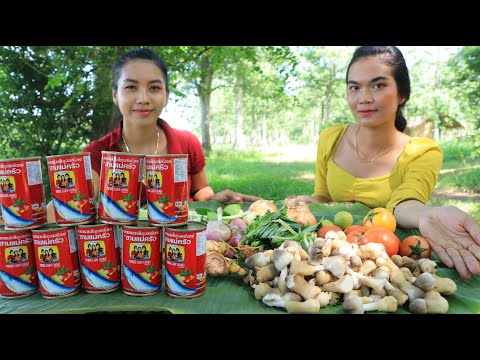 Play this video Cooking canned sardines Tongyum with vegetable recipe - Cooking skill