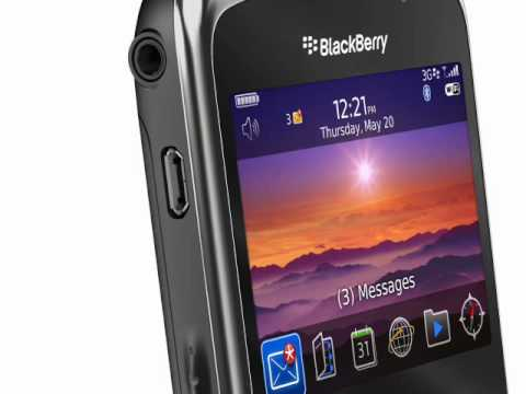 Youtube Video Blackberry 9300 Curve 3G schwarz