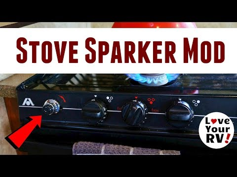 RV Gas Stove Mod - Upgraded the Mechanical Igniter to Electric Push Button