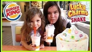 Burger King Lucky Charms Milkshake - Gross or Good? (6.20.17 - Day 2602) We went to Burger King today to taste test the new ...