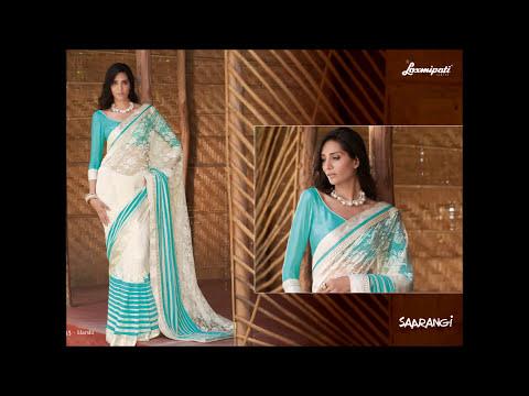 Laxmipati Sarees Video - SAARANGI Designer Embroidery Sarees Collections' Catalog Wholesale/Retail