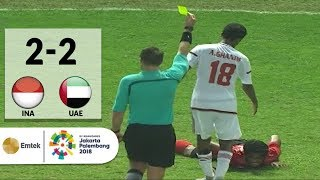 Video Full Highlights Sepak Bola Indonesia (2) vs (2) United Arab Emirates | Asian Games 2018 MP3, 3GP, MP4, WEBM, AVI, FLV September 2018