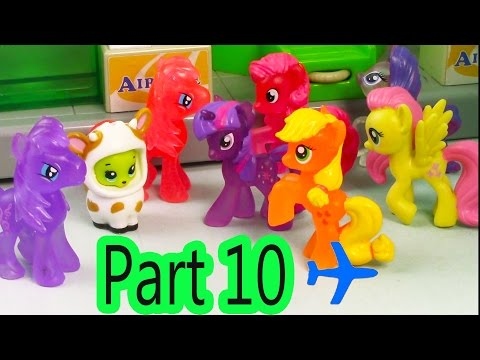 MLP Airport - Flight To Catch - My Little Pony Travel Part 10 Apple Jack Series