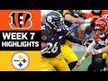 Bengals vs Steelers | NFL Week 7 Game Highlights