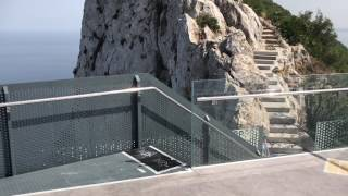 The views from Gibraltar's are spectacular when seen from the Sky Walk. Video by Eyleen Sheil.