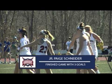 ECSU Women's Lacrosse Highlights vs. Wellesley College