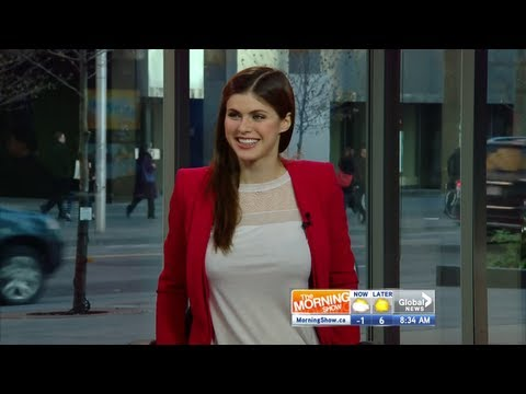 Alexandra Daddario - Thu, Dec 13: Alexandra Daddario visits The Morning Show to preview the scary new flick Texas Chainsaw 3D. For more info, please go to http://www.globalnews.ca.