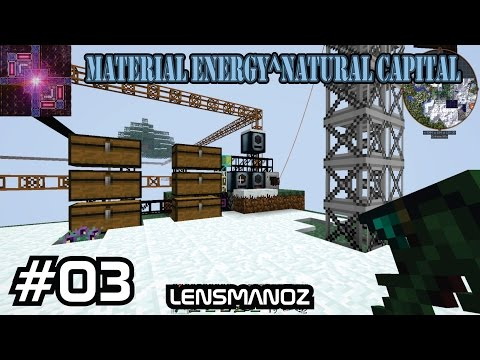 Minecraft - Material Energy^Natural Capital - Ep 3 - Quest reset and BC Quarry
