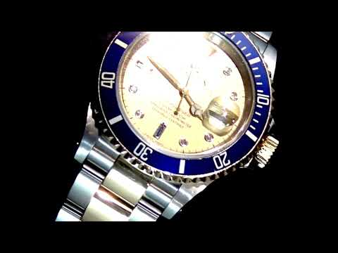 Men's 18k Yellow Gold/Stainless Steel Rolex Submariner Automatic Wristwatch, with Box