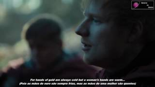 Ed sheeran com a musica: For hands of gold are always cold but a woman's hands are warm... Ed apareceu no 1 episódio da 7 Temporada fazendo um papel ...