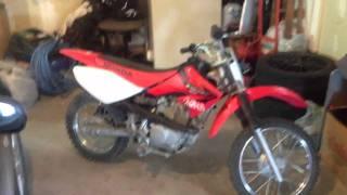4. 2005 Honda crf80f dirt bike running